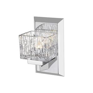 Z-Lite Rubicon 1-Light Wall Sconce - 8.75-in - Steel - Chrome