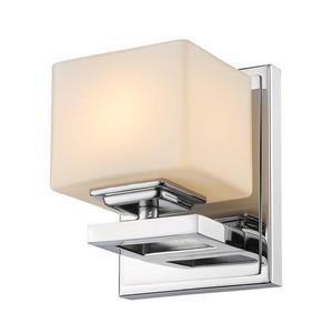 Z-Lite Cuvier 1-Light Wall Sconce - 5.5-in - Steel - Chrome