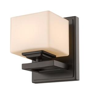 Z-Lite Cuvier 1-Light Wall Sconce - 5.5-in - Steel - Bronze