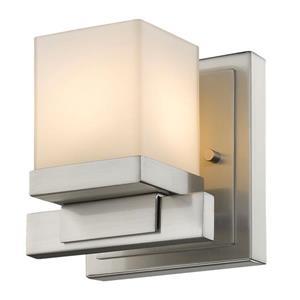 Z-Lite Cadiz 1-Light Wall Sconce - 4.9-in - Steel - Nickel