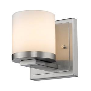 Z-Lite Nori 1-Light Wall Sconce - 4.9-in - Steel - Nickel