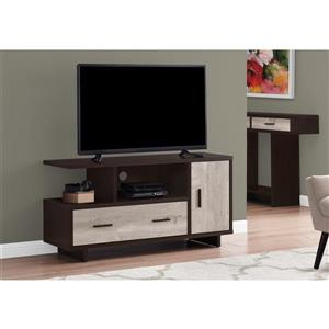 Monarch TV Stand - 47.25-in x 23.75-in - Composite - Cappuccino