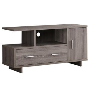Monarch TV Stand with Storage - 47.25-in - Composite - Dark Taupe