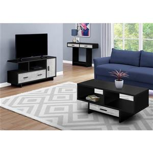 Monarch TV Stand with Storage - 47.25-in x 23.75-in - Black/Gray