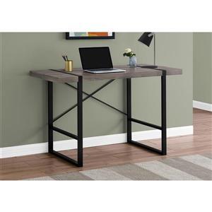 Monarch Computer Desk - 49-in x 30-in - Composite - Dark Taupe/Black