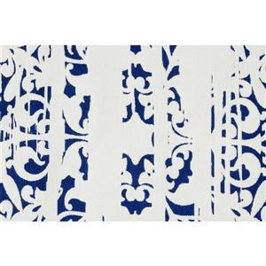Notre Dame Design Maltese Outdoor Rug - 78.75-in- Polyester - White/Blue