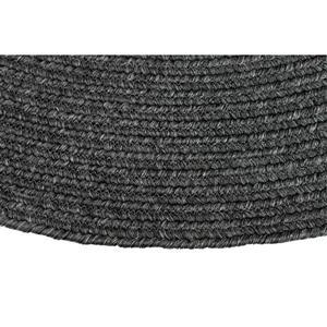 Notre Dame Design Oval Outdoor Rug - 39.3-in- Polypropylene - Charcoal
