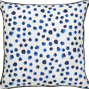 Notre Dame Design Lustra Polka Dot Outdoor Pillow - 22-in- Polyester - White