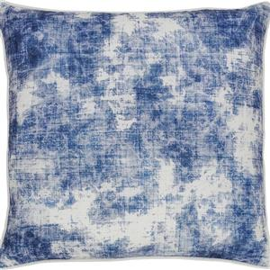 Notre Dame Design Skye Outdoor Pillow - 22-in- Polyester - Blue/White