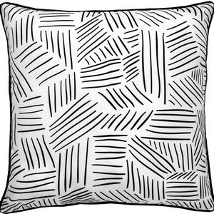 Notre Dame Design Winston Chevron Outdoor Pillow - 22-in- Polyester - White