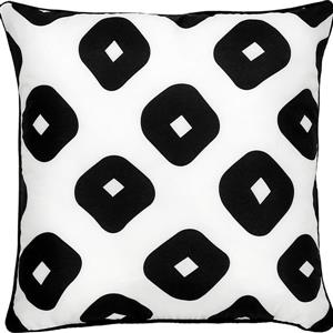Notre Dame Design Grenton Geometric Outdoor Pillow - 22-in- Polyester - White