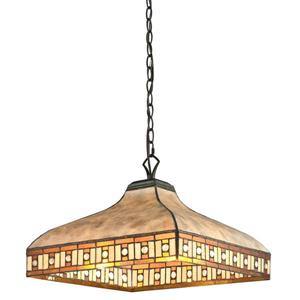 Z-Lite Crimson Light Pendant - 3-Light - Tiffany and Bronze