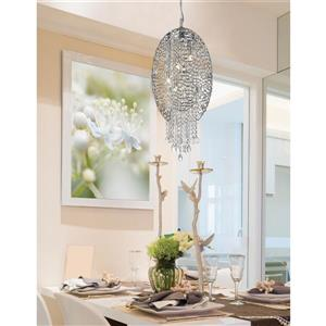 Z-Lite Nabul 1 Light Mini Pendant with Sparkling Crystals - Chrome