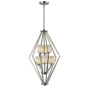 Z-Lite Elite Foyer Pendant - 6 Light - 17-in x  76.5-in - Chrome