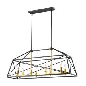 Z-Lite Tressle Pendant Light - 8 Light - Bronze and Gold