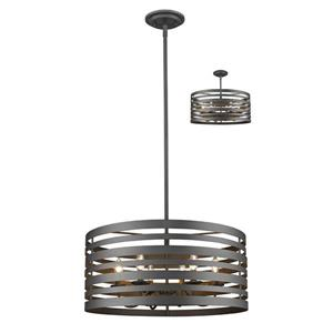 Z-Lite Memphis Mini Pendant - 6-Light - Bronze - 24-in