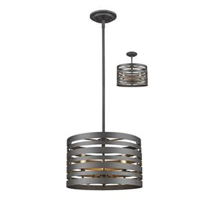 Z-Lite Memphis Mini Pendant - 3 Light - Bronze - 16-in