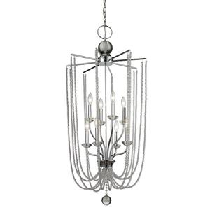 Z-Lite Serenade Light Pendant - 8-Light - Chrome - 21-in x  45-in