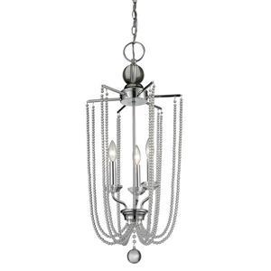 Z-Lite Serenade Light Pendant - 3-Light - Chrome - 14-in x  30.75-in