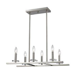 Z-Lite Verona Light Pendant - 6-Light - Brushed Nickel