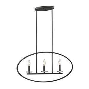 Z-Lite Verona Light Pendant - 3-Light - Bronze - 28-in x  3-in x  14.25-in