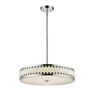 Z-Lite Sevier LED Pendant - Chrome/Black/White  - 24-in