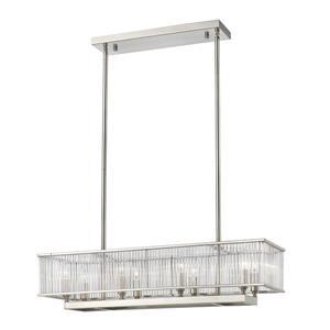 Z-Lite Zalo Light Pendant - 8-Light - Nickel and Clear Glass