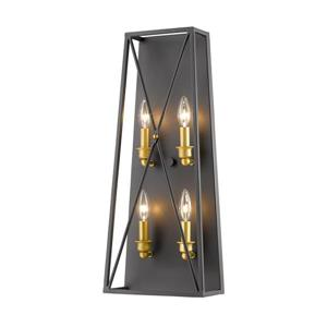 Z-Lite Tressle 4 Light Wall Sconce - Bronze Gold