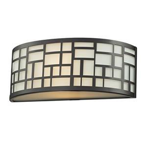 Z-Lite Elea Wall Sconce - 1 Light - Bronze - 3.88-in x  12-in x  4.75-in