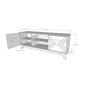 Nexera Arrow TV Stand - 70.5-in x 26.13-in - Wood - Nutmeg/Greige