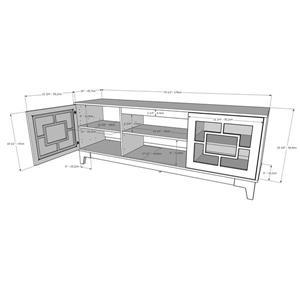Nexera Magnolia TV Stand - 70.5-in x 26.13-in - Wood - Nutmeg/Greige