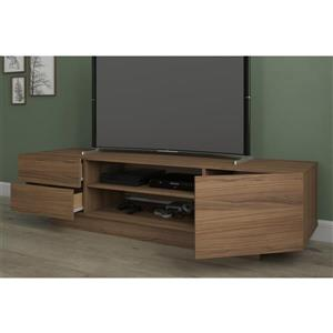 Nexera Morello TV Stand - 71.75-in x 18.38-in - Wood - Nutmeg
