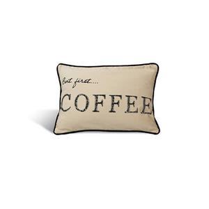 Urban Loft by Westex Typo Coffee Decorative Cushion - 14-in x 20-in - Multicoloured