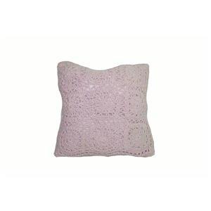 Urban Loft by Westex Crochet Polyester Decorative Cushion - 18-in x 18-in - Pink