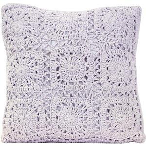 Urban Loft by Westex Crochet Decorative Cushion - 18-in x 18-in - Violet