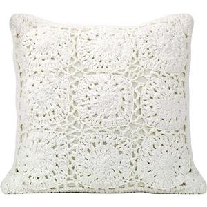 Urban Loft by Westex Crochet Polyester Decorative Cushion - 18-in x 18-in - White