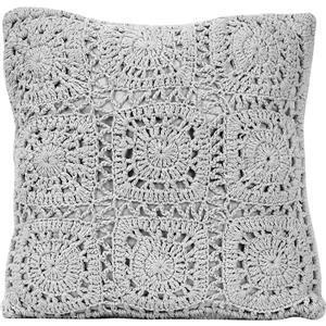 Urban Loft by Westex Crochet Polyester Decorative Cushion - 18-in x 18-in - Grey