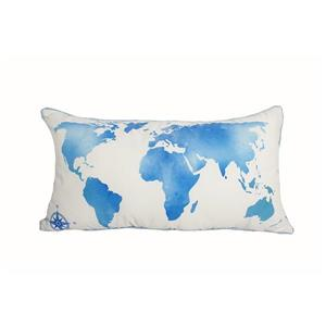 Urban Loft by Westex Map World Decorative Cushion - 14-in x 26-in - Multicoloured