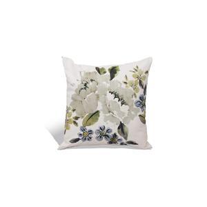 Urban Loft by Westex Selena Floral Decorative Cushion - 18-in  x 18-in - Grey