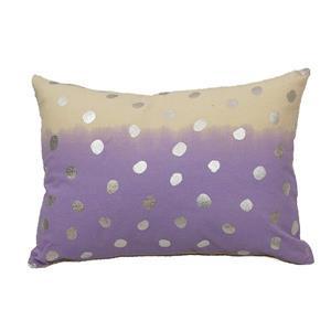 Urban Loft by Westex 2Tone Dot Decorative Cushion - 14-in x 20-in - Lavender/Silver