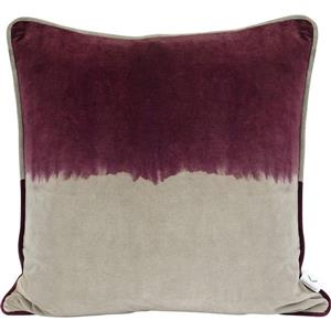 Urban Loft by Westex Velvet 2-Tone Decorative Cushion - 20-in x 20-in - Wine