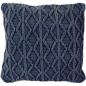 Urban Loft by Westex Stonewash Decorative Cushion - 20-in x 20-in x 4-in - Navy