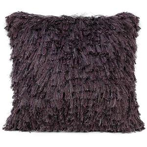 Urban Loft by Westex Shiny Shag Decorative Cushion - Purple