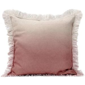 Urban Loft by Westex Ombre Fringe Decorative Cushion - 20-in x 20-in - Blush