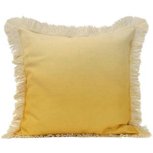 Urban Loft by Westex Ombre Fringe Decorative Cushion - 20-in x 20-in - Yellow