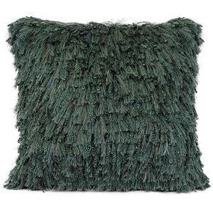 Urban Loft by Westex Shiny Shag Decorative Cushion - 20-in x 20-in - Emerald