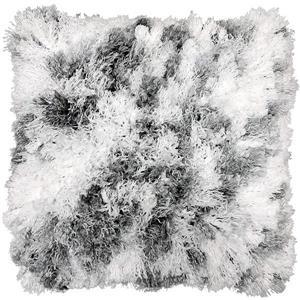 Urban Loft by Westex Curly Shag Decorative Cushion - White/Grey
