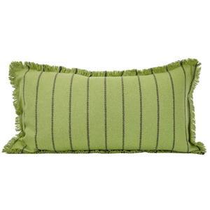 Urban Loft by Westex Fringe Striped Decorative Cushion - 14-in x 26-in- Green