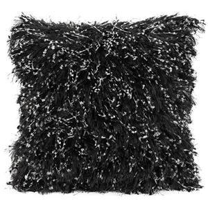 Urban Loft by Westex Shiny Shag Decorative Cushion - 24-in x 24-in - Black