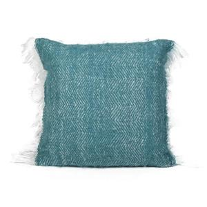 Urban Loft by Westex Mohair Solid Decorative Cushion - 20-in x 20-in - Teal